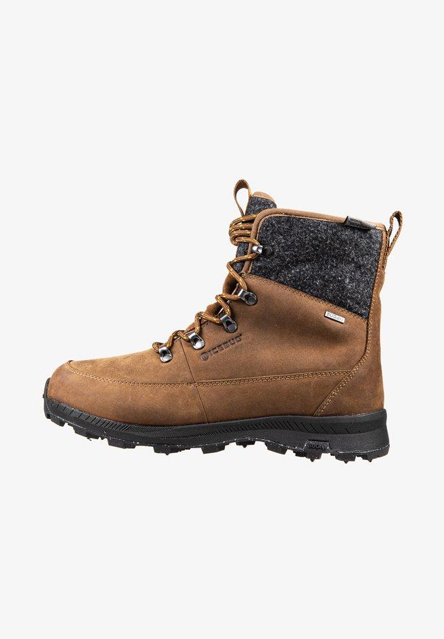 ADAK M MICHELIN WIC WOOLPOWER - Lace-up ankle boots - coffee grey