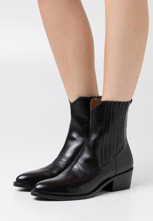 Cowboy/biker ankle boot - malaga nero