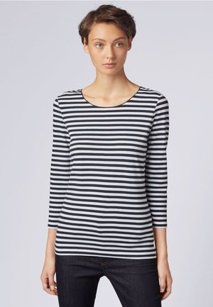 E4513 - Long sleeved top - black/white