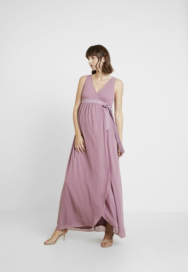 PHOEBE MAXI WRAP DRESS - Robe longue - canyon rose