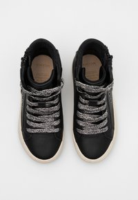 Geox - KALISPERA GIRL - Sneakersy wysokie - black/dark silver - 3