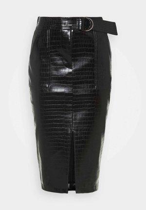 GONNA LONGUETTE CASTERLY - Pencil skirt - nero
