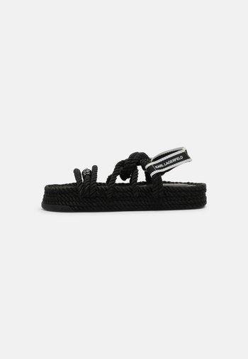 RAPALLA ROPE - Platform sandals - black
