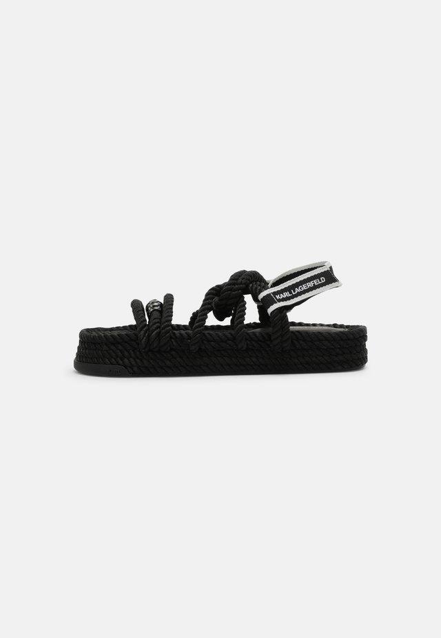 RAPALLA ROPE - Sandales à plateforme - black