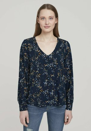 Blouse - blue dot print