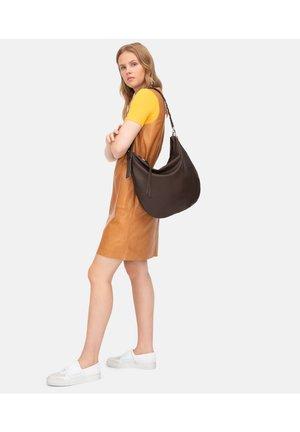 HOBO BAG AUS SOFTLEDER - Tote bag - dark brown