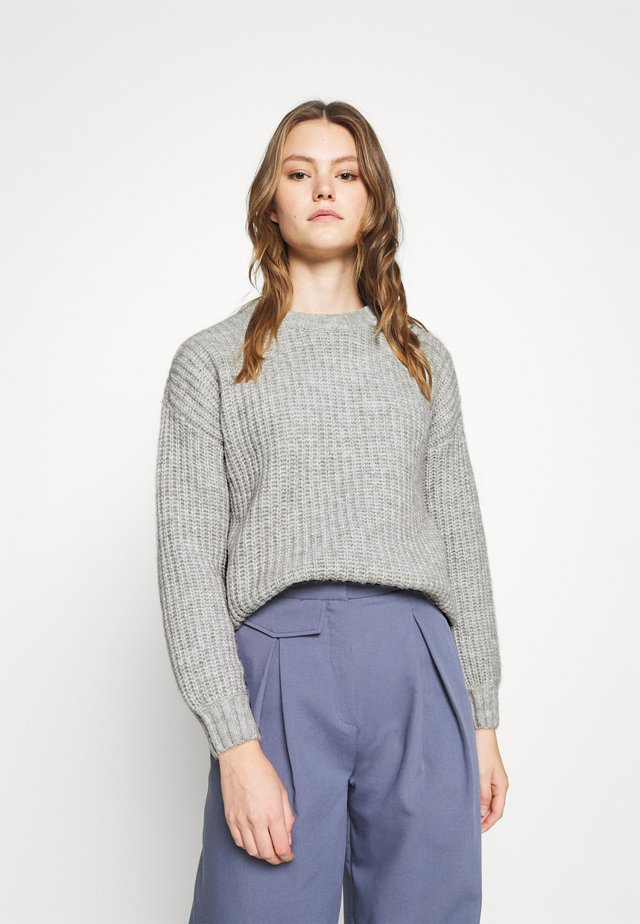COSY WOOL BLEND JUMPER - Neule - mottled grey