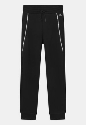 LOGO PIPING - Tracksuit bottoms - black