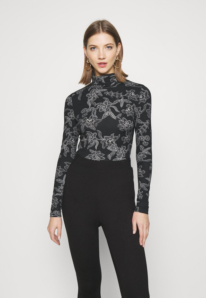 Vero Moda - VMFEABI - Top sdlouhým rukávem - black/filip