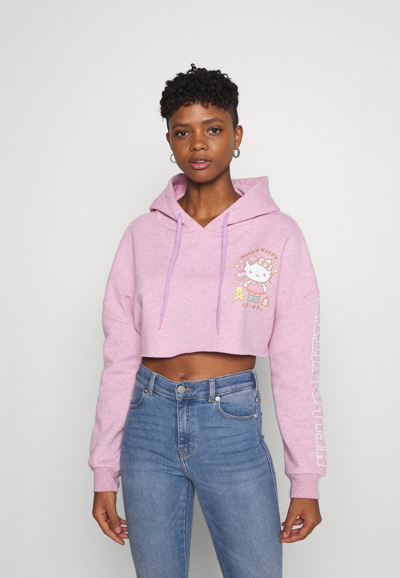 NEW girl ORDER - LOGO CROP HOODY - Sweatshirt - pink