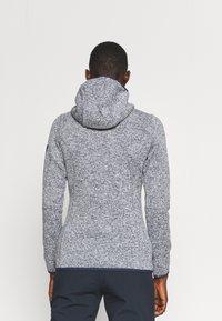 CMP - WOMAN FIX HOOD JACKET - Fleece jacket - titanio/bianco - 2