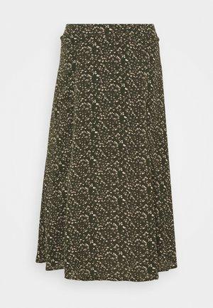 SLFMETHA MIDI SKIRT PETITE - A-line skirt - winter moss