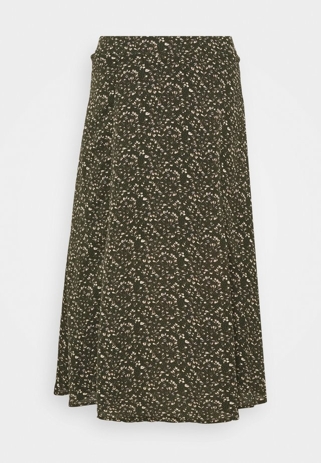 SLFMETHA MIDI SKIRT PETITE - Gonna a campana - winter moss