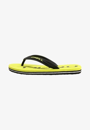 FOOTWEAR PROFILE - T-bar sandals - new safety yellow