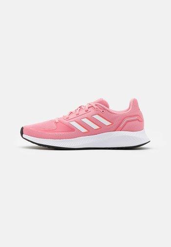RUNFALCON 2.0 - Zapatillas de running neutras - super pop/footwear white/solar red
