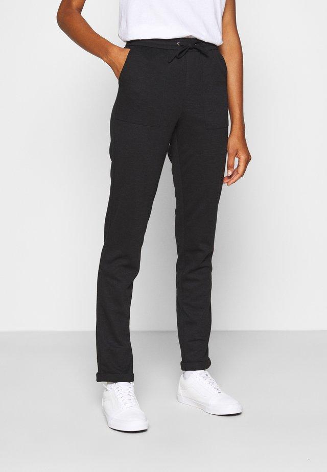 ONLEVITA IRENE LIFE STRING PANT - Spodnie materiałowe - black
