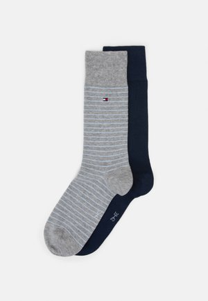 MEN SMALL STRIPE SOCK 2 PACK - Socks - light grey melange