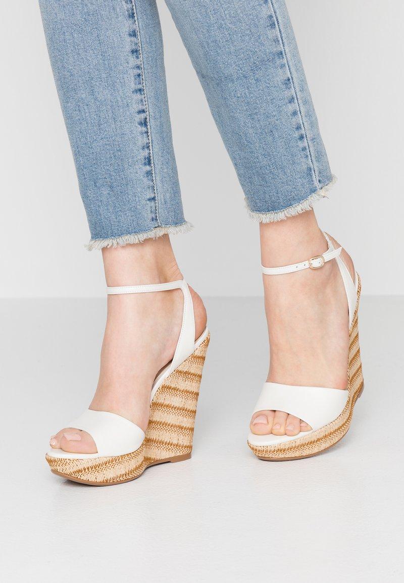 ALDO - CILMACLYA - High heeled sandals - white