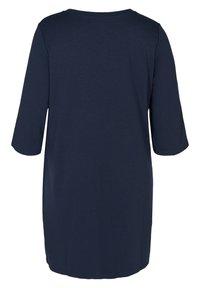 Zizzi - MIT V-AUSSCHNITT UND 3/4-ÄRMELN - Jersey dress - dark blue - 5
