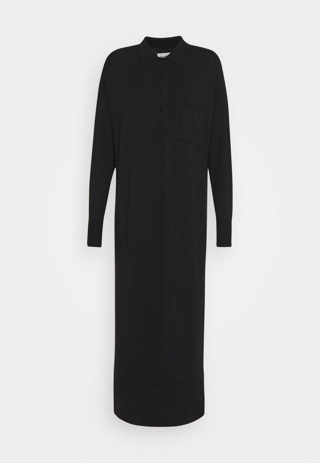 DEENA DRESS - Gebreide jurk - black