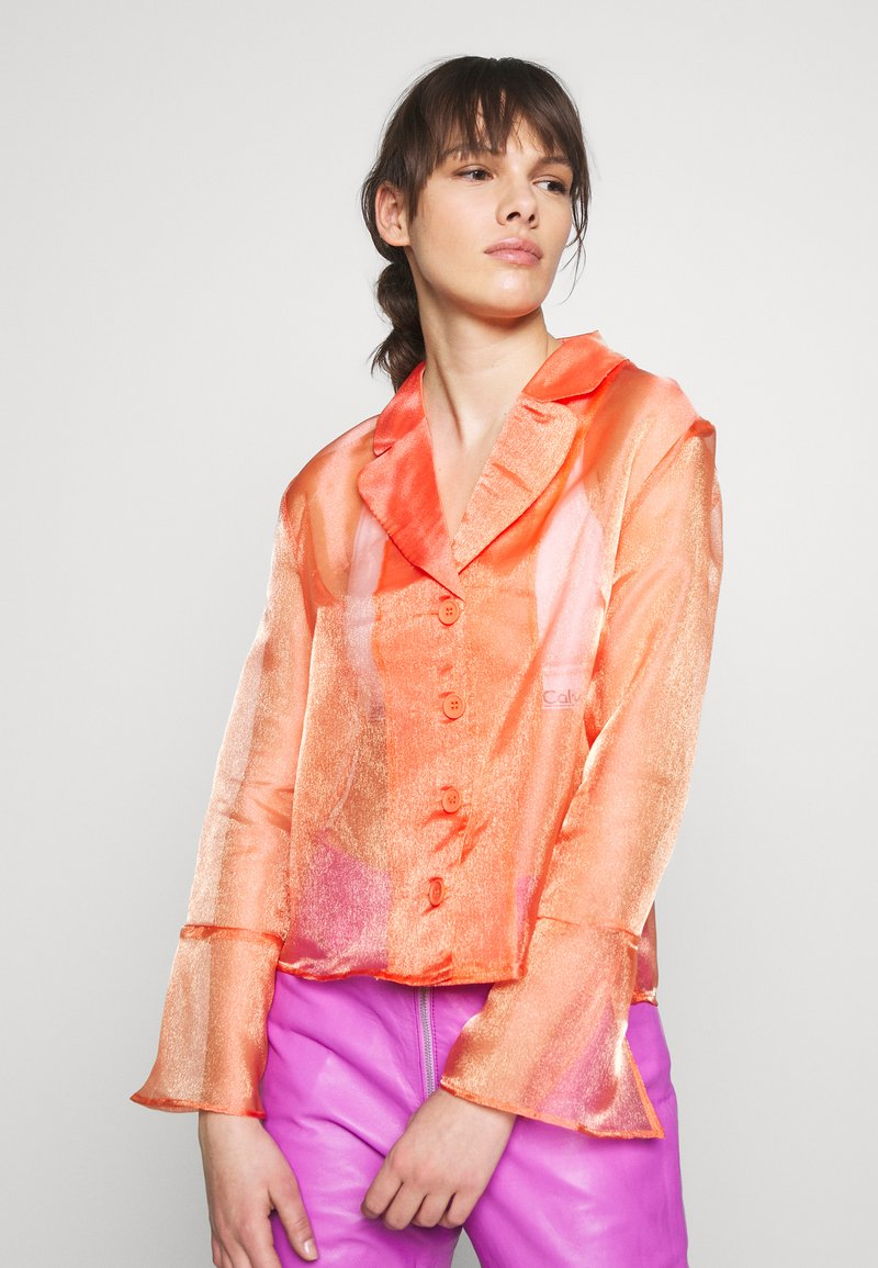HOSBJERG - JASMINE - Button-down blouse - orange