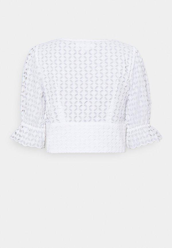 MICHAEL Michael Kors LATTICE EYELET - Bluzka - white/biały UERG