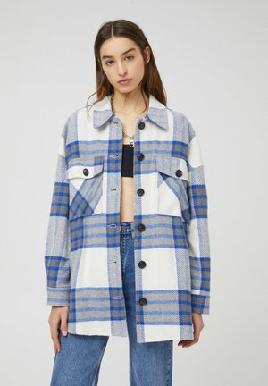 Short coat - mottled blue