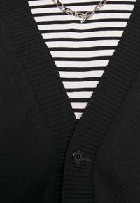 NU-IN - MARCUS BUTLER BLEND OVERSIZED CARDIGAN - Cardigan - black - 5
