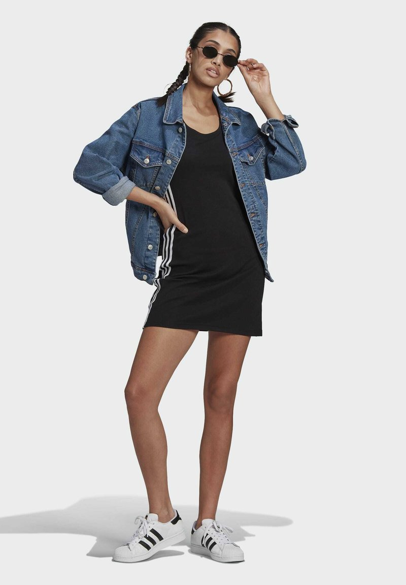 adidas Originals - RACER DRESS - Jersey dress - black