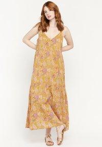 LolaLiza - FLOWER PRINT - Maxi dress - yellow - 1