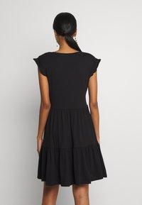 ONLY - ONLMAY LIFE CAP SLEEVES FRILL DRESS - Vestido ligero - black - 2