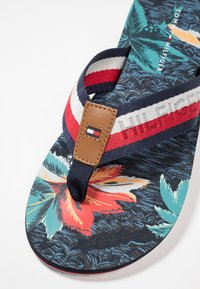 Tommy Hilfiger - TROPICAL PRINT BEACH  - T-bar sandals - red - 7