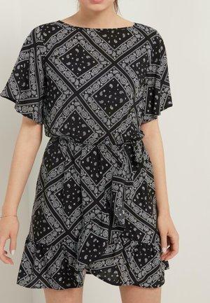 MIT VOLANT - Day dress - mottled anthracite