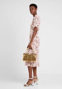 PIECES Tall - PCEYVA WRAP DRESS  - Maxi dress - bright white/redwood - 1