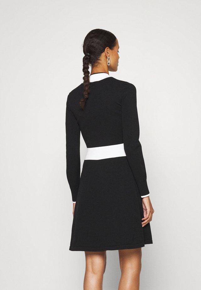 SUMERY - Gebreide jurk - black