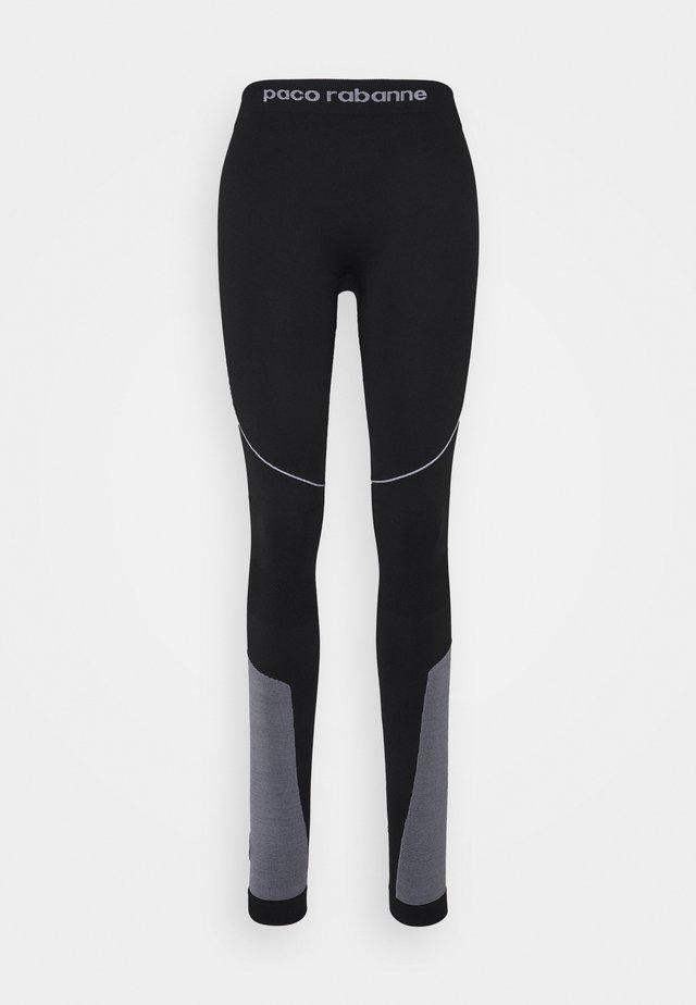 PANTALON - Leggings - Hosen - black/white