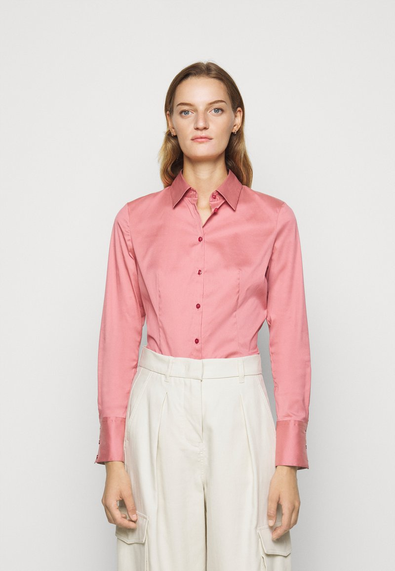 HUGO - THE FITTED  - Button-down blouse - dark pink