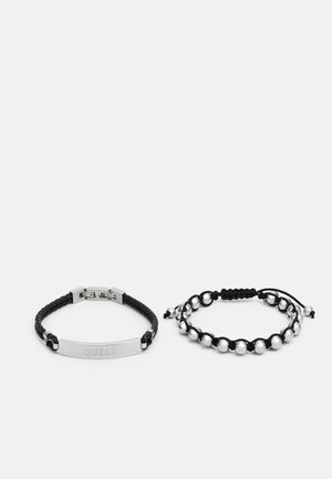 2 PACK - Pulsera - black/silver-coloured