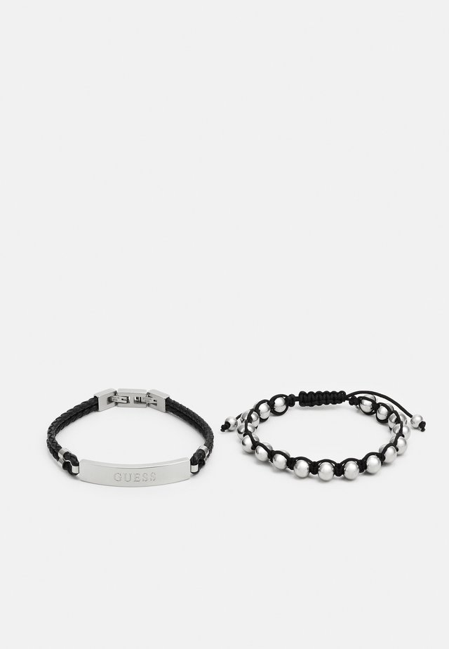 2 PACK - Bracelet - black/silver-coloured