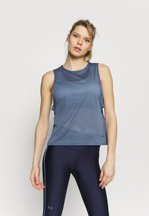 MUSCLE TANK - Top - mineral blue