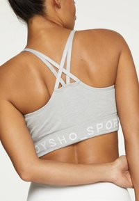 OYSHO - Medium support sports bra - grey - 4