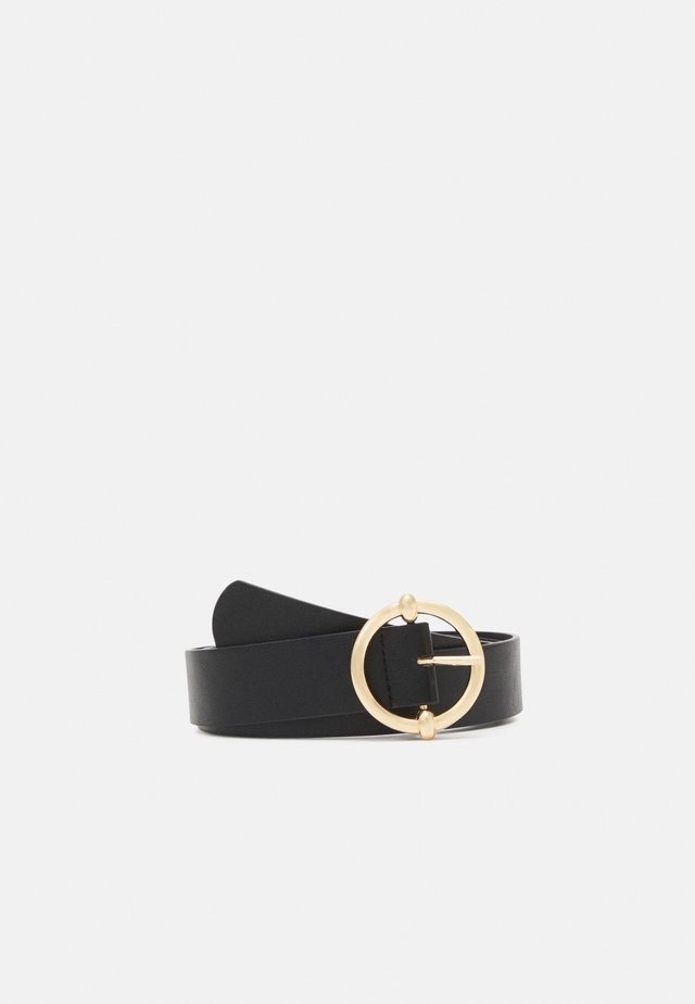 PCMIRANDA BELT - Pasek - black/gold-coloured