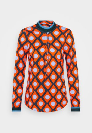 Blouse - orange/blue