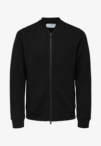 Selected Homme - Zip-up sweatshirt - black - 5
