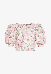 EBBA PUFF SLEEVE BLOUSE - Blusa - offwhite/pink