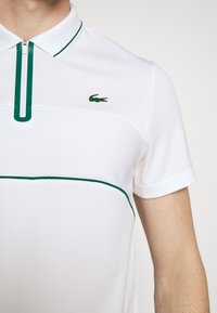 Lacoste Sport - TENNIS ZIP - Funkční triko - white/bottle green - 5