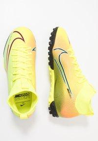Nike Performance - MERCURIAL JR 7 ACADEMY TF UNISEX - Astro turf trainers - lemon/black/aurora green - 0