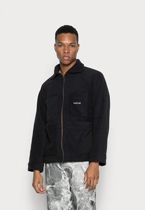 JAURES JACKET - Fleece jacket - black