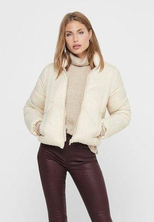 JDYTIMBER SHORT PADDED  - Winter jacket - oatmeal