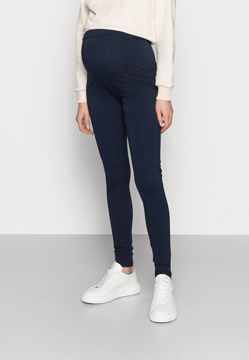 MAMALICIOUS - MLMIRA PINTUCK - Leggings - navy blazer